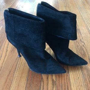 Christian Dior Black Suede Stiletto Boots